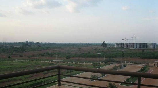Hotel des Parlementaires: vue depuis balcon/terrasse
