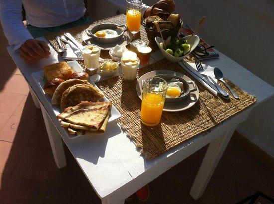 Riad les Orangers d'Alilia Marrakech : petit déjeuner