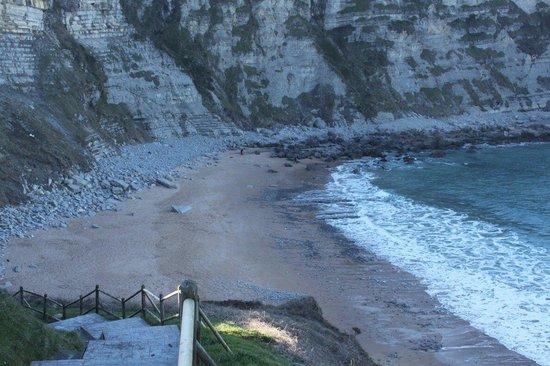 Playa de Langre: Playita de la izq