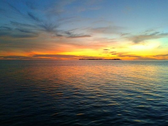 Wakatobi Dive Resort: Sunset from Jetty Bar