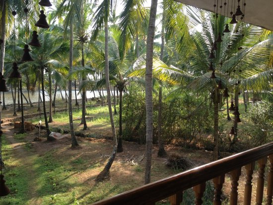 KK Heritage Homestay: View from the balcony to backwaters