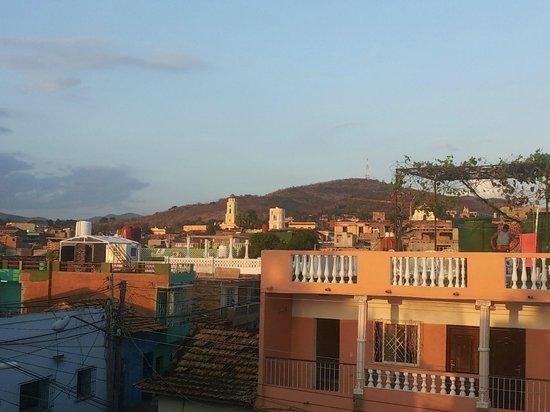 Hostal Oasis Trinidad Cuba : En el techo