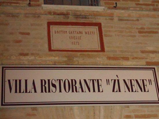 "Ristorante ""Zi Nene"": zì nene"