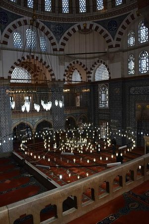 Rustem Pasha Mosque: View inside the mosque from the second level balcony (not open to the public)