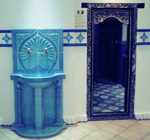 Escorial: Entrance to wellness centre and rasul room