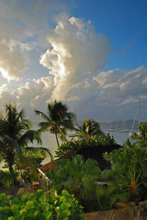 Cooper Island Beach Club: Looking towards Tortola from room balcony