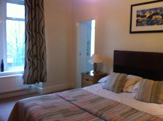 Gwesty Glan Aber Hotel : General room with too short curtains