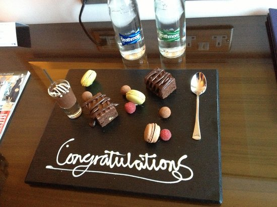 The Trafalgar Hotel : Welcome surprise in the room