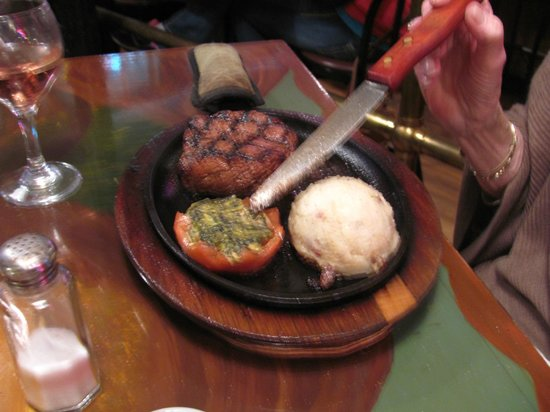 Biscuits & Blues: Filet of Beef with spinach stuffed tomato
