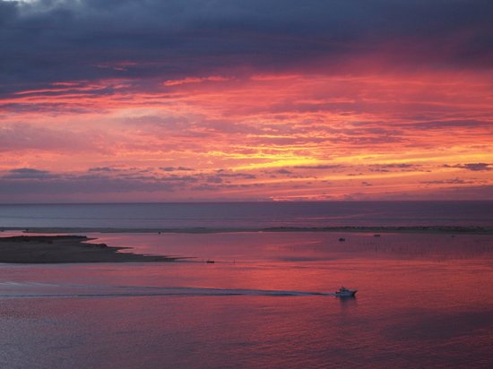 View Of Arcachon Bay At Sunset From Campsite Picture Of Yelloh