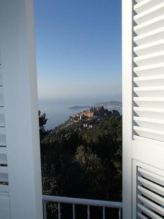 Domaine Pins Paul : Eze et le Cap Ferrat depuis la chambre Fuon-Roussa