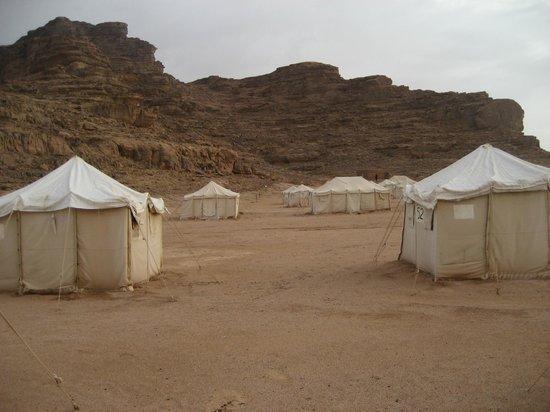 Jabal Rum Camp: campo al mattino