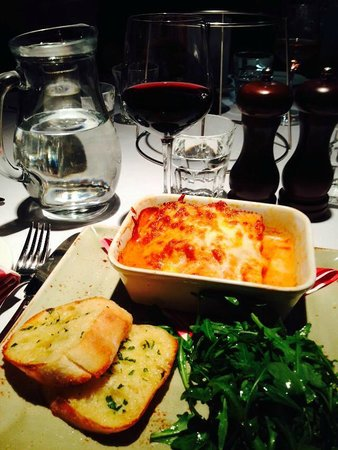 Marco's New York Italian Exeter: Lasagne with a glass of Rioja