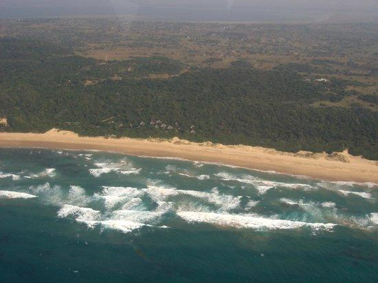 Thonga Beach Lodge: Hier ist die Lodge ganz zu sehen