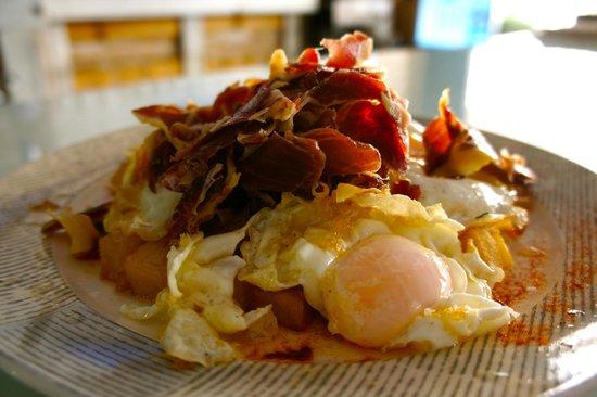 Cursos De Cocina Las Palmas   Huevos Rotos Con Jamon De Guijuelo Foto De La Macarena Taller De