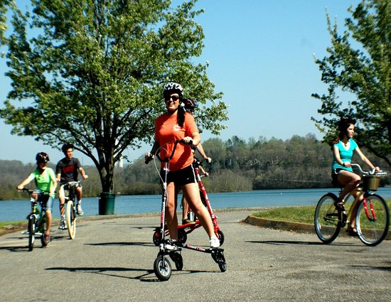 Adventures Outdoors Kayak & Bike Rentals: Destinee on Trikke