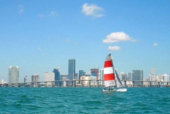 Miami Catamarans - Hobie Cat Sailing Lessons: another boat from the same operator
