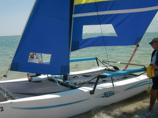 "Miami Catamarans - Hobie Cat Sailing Lessons: Hobie Getaway, the majority of their ""fleet"""