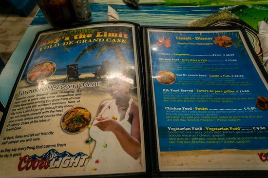 Sky's the Limit: Menu front page