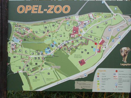 Opel Zoo: Übersichtskarte
