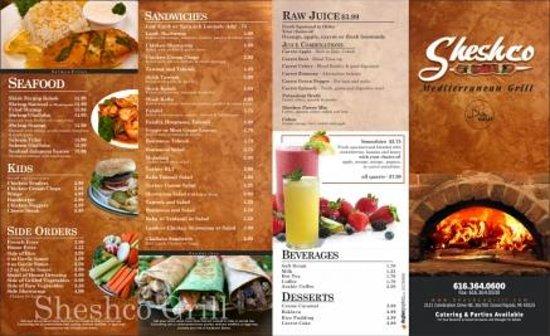 Sheshco grill food picture of sheshco mediterranean for Mediterranean restaurant menu