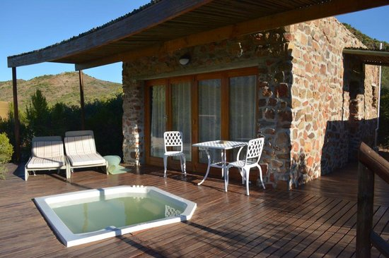 Mymering: Our room with decking and Jacuzzi