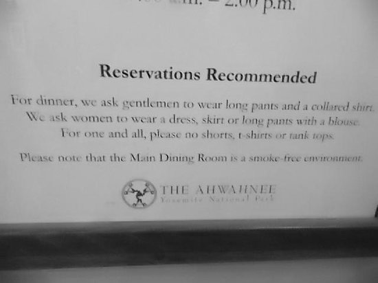 dress code for dinner - Picture of The Majestic Yosemite Dining ...