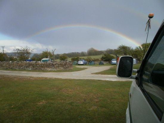 Rainbow over Tom's Field