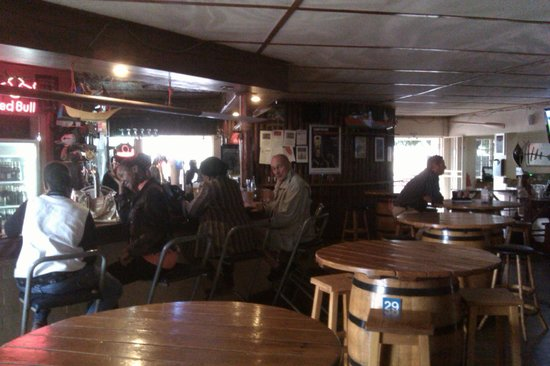 Fisherman's: The bar - the main social area for the locals