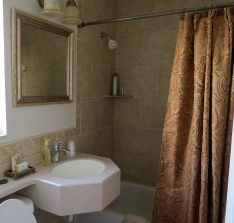 La Fiesta Ocean Inn & Suites : View of the bath area in our room