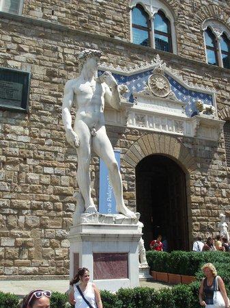 """Family Apartments: """"David"""" taken in the Piazza della Signoria"""