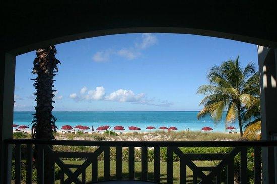 Royal West Indies Resort: View from balcony, ocean-front studio, 2nd floor
