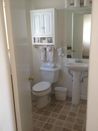 Shoreline Cottages : Bathroom (Shower only in these rooms)