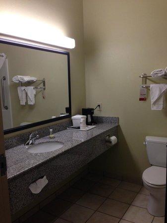 Super 8 by Wyndham Savannah: Bathroom