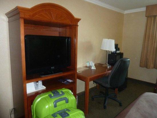 Best Western Airpark Hotel : Tv y escritorio