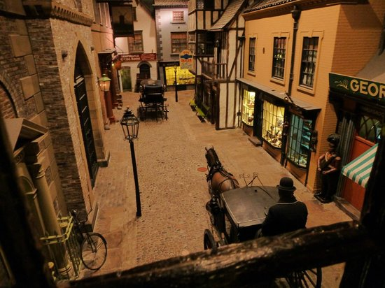 The Queens Hotel: the street in York Museum