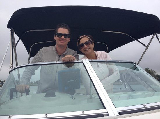 Sea Shell Boat Tours: our wonderful hosts-Eric and Samantha!