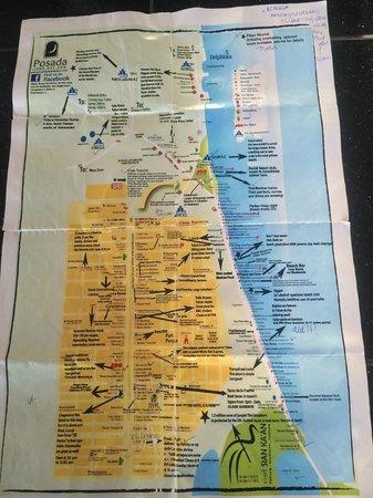 Posada Luna del Sur: Tom's amazing map of Tulum