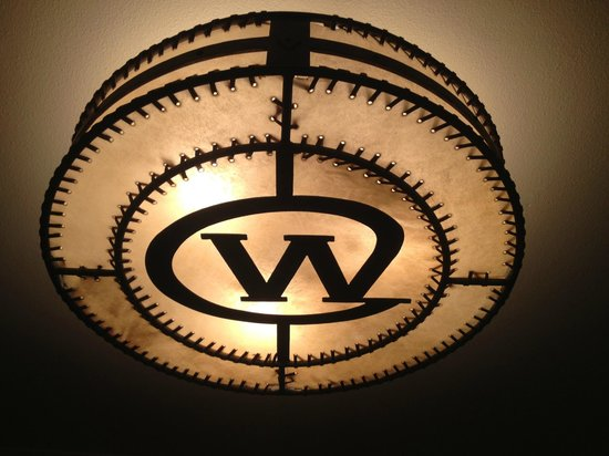 The Wort Hotel: Light fixture in our room