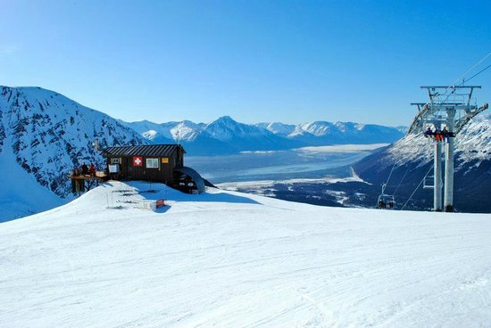 Hotel Alyeska: View from top of the moutnain