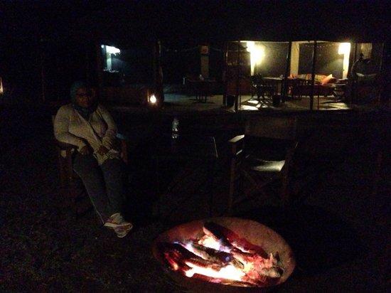 Serengeto Osupuko Tented Camp: After Sundowner camp fire