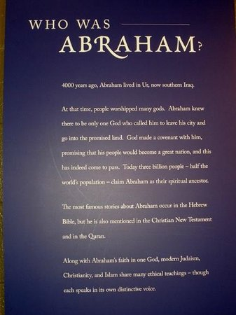 Discovery Place Science : Who is Abraham poster