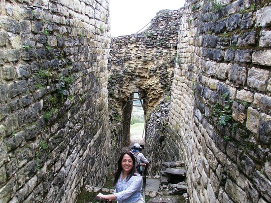 Fortaleza de Kuelap: Otro detalle de la entrada