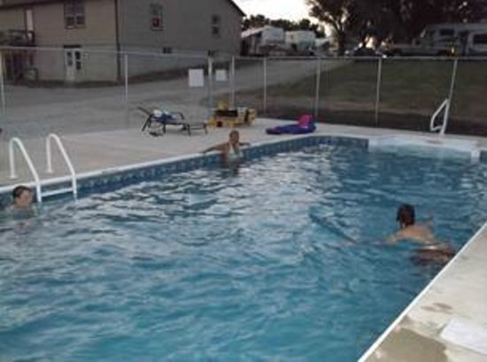 The Great Escape RV & Camp Resort: New Pool (2013) with Deck and Pergola