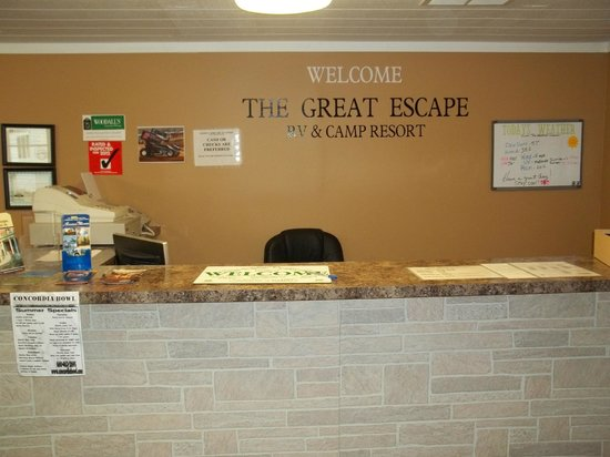The Great Escape RV & Camp Resort: Park Office