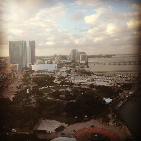 InterContinental Miami: City view from our room