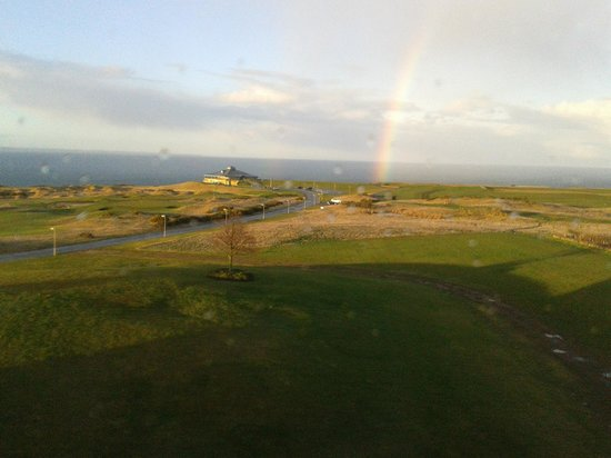 Fairmont St Andrews: rainbow from our room