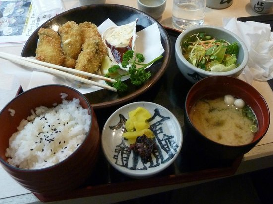 Yakigaki No Hayashi : Fried Oyster Meal Set