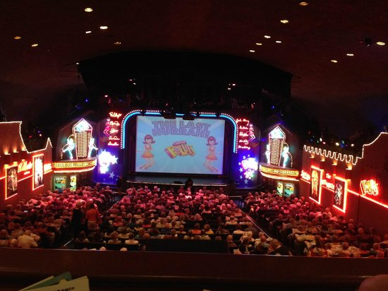 The Fabulous Palm Spring Follies: Our view from seat in balcony