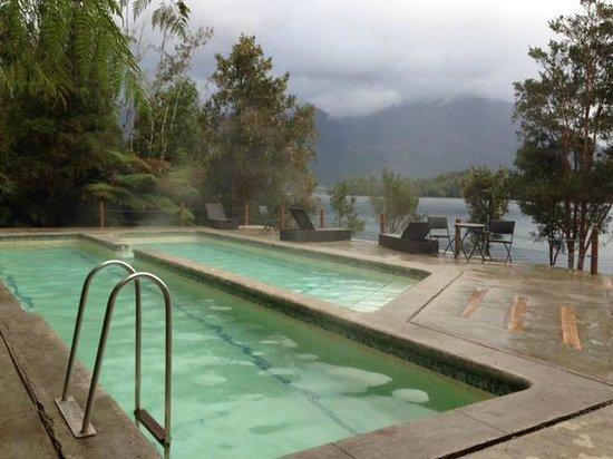 Puyuhuapi Lodge & Spa: primera piscina exterior